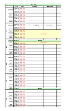 Raspored održavanja ispita i kolokvijuma u sali 207