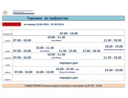 Termini za građanstvo 25.04 - Завод за спорт и медицину спорта