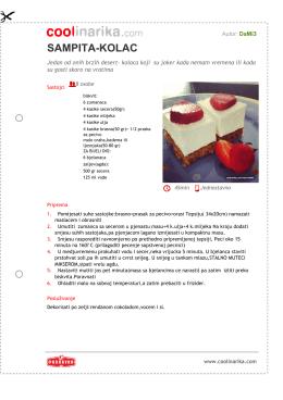 sampita-kolac - Coolinarika