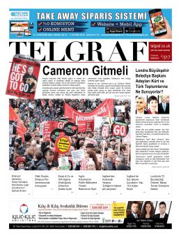 Cameron Gitmeli - Telgraf Gazetesi – Londra