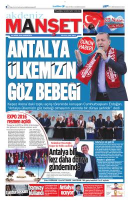 Antalya bir kez daha dünya gündeminde Antalya bir kez daha dünya