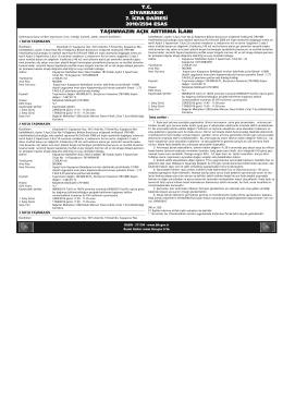 tc diyarbakır 7. icra dairesi 2010/2594 esas taşınmazın açık artırma