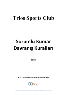 Venue Name - Trios Sports Club