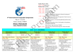 Oral Program - GeoMed 2016