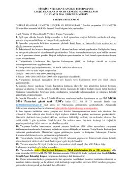 02 Mayıs - Türkiye Atıcılık ve Avcılık Federasyonu