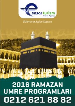 2016 Ramazan Umre BROŞÜRÜ RAMAZAN UMRE BROŞÜRÜ