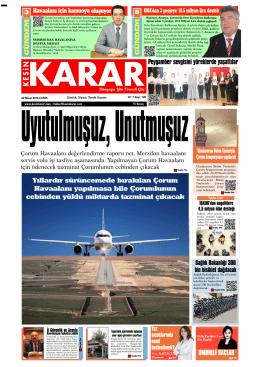 22 Nisan 2016 - Kesin Karar Gazetesi