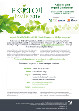 7. Ekoloji İzmir Organik Ürünler Fuarı