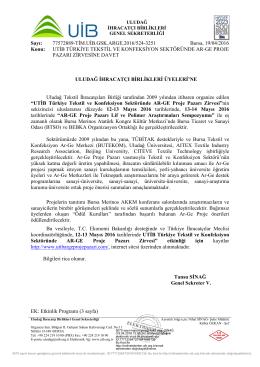 UTİB Türkiye Tekstil ve Konfeksiyon Sektöründe AR