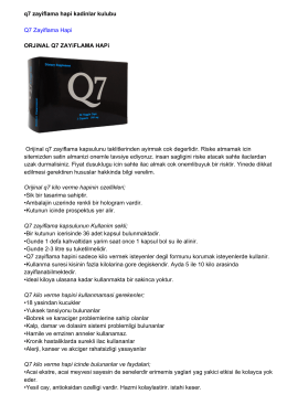 q7 zayiflama hapi kadinlar kulubu Q7 Zayiflama Hapi