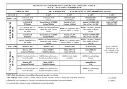 2016 Hac Hazırlık Kurs Programı