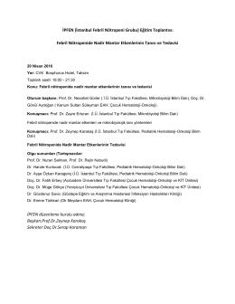 17 Ekim 2012 Konya Gastroenteroloji Hekimleri Toplantısı