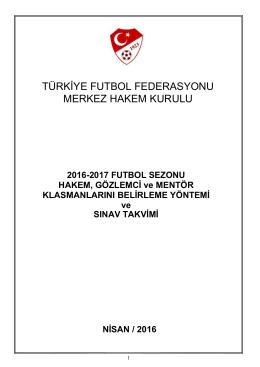 türkiye futbol federasyonu merkez hakem kurulu