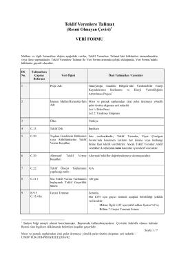 Teklif Verenlere Talimat - Procurement Notices
