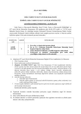 4-b sözleşmeli personel alım ilanı