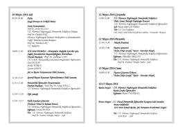 Hemşirelik Haftası Etkinlikleri Programı – Sayfa 2