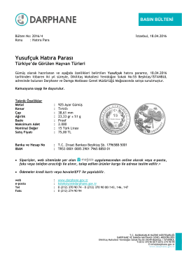 Yusufçuk Hatıra Parası - Darphane ve Damga Matbaası Genel