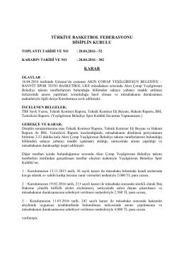 karar 302 akın çorap yeşilgiresun belediye – banvit spor toto