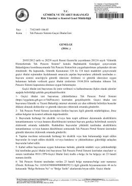 Tek Pencere Sistemi - T.C. Gümrük ve Ticaret Bakanlığı