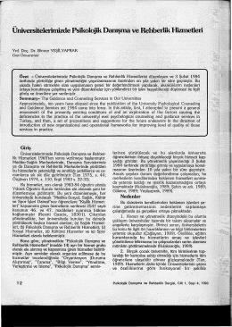PDF İndir - Türk Psikolojik Danışma ve Rehberlik Dergisi