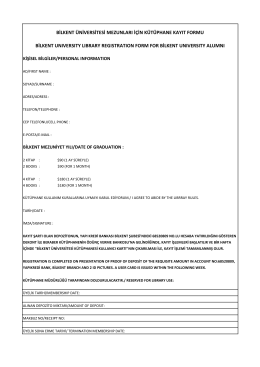 kayıt formu - Bilkent University Library