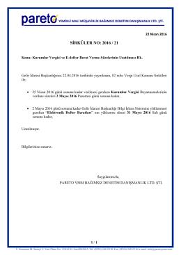 sırk-16-21 kurumlar vergisi ve e-defter berat sürelerinin uzatılması hk.