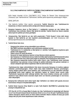 Taahhütname - Telekom Paketleri > Türk Telekom