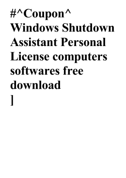 Coupon^ Windows Shutdown Assistant Personal License