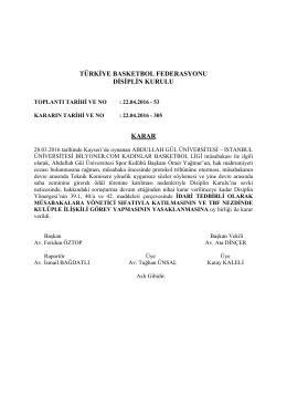 karar 305 tedbir abdullah gül üniversitesi - istanbul