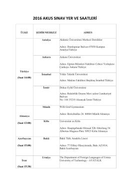 2016 akus sınav yer ve saatleri - BYS