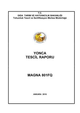 yonca çeşit tescil denemeleri - TC Gıda Tarım ve Hayvancılık Bakanlığı
