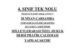 4. SINIF TEK NOLU