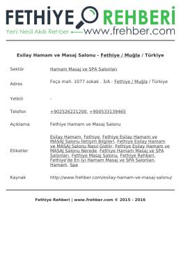 Esilay Hamam ve Masaj Salonu