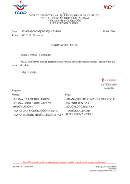 18.04.2016 - Devlet Demir Yollari 6.Bölge