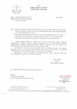 müdürlüğü münhal bulunan eğitim kurumları listesi 18.04.2016 16:39