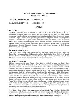 karar 303 socar spor