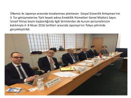Emeklilik Hizmetleri Genel Müdürü Sayın İsmail Yılmaz Türkiye