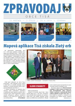 Zpravodaj obce Tisá č. 2/2016