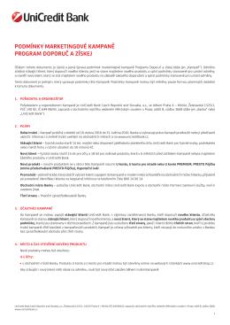 Doporuč a získej - UniCredit Bank