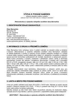 výzva - VO Bernartice - 042016