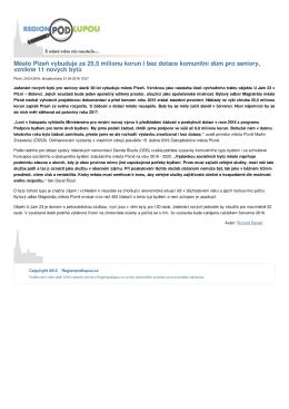 Město Plzeň vybuduje za 25,5 milionu korun i bez dotace komunitní