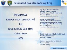 Hlava I UCC & UCC DA & UCC IA - Celní správa České Republiky