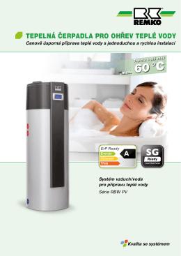 Tepelná čerpadla pro ohřev teplé vody RBW