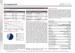 Tisková verze infolistu fondu - J&T INVESTIČNÍ SPOLEČNOST, as