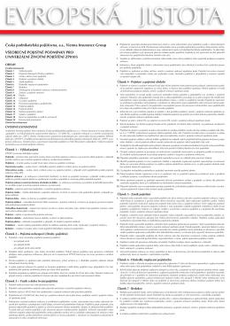Brožura pojistných podmínek Evropská jistota 0108_platnost od 1.1