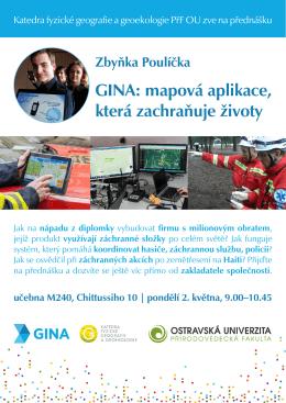 GINA: mapová aplikace, která zachraňuje životy