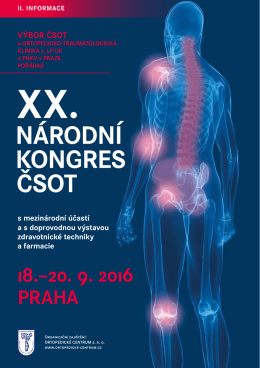 NK CSOT 2016 - II. Informace CZ