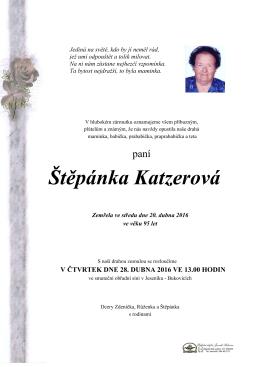 Štěpánka Katzerová