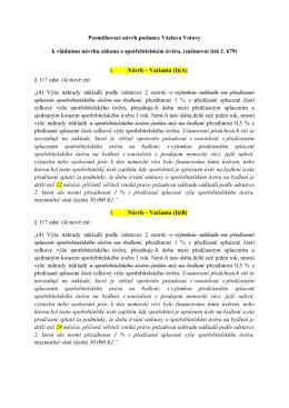 Pozměňovací návrh poslance Václava Votavy k vládnímu návrhu