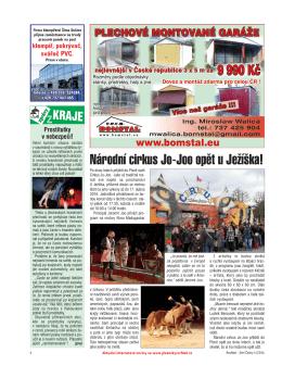 Národní cirkus Jo-Joo opět u Ježíška! (Str. 6)